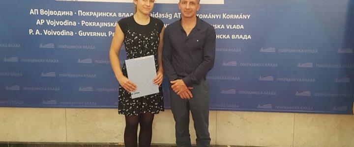 Nora Bognar – dobitnica stipendije za mlade i perspektivne sportiste